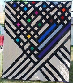 bold & graphic solids quilt