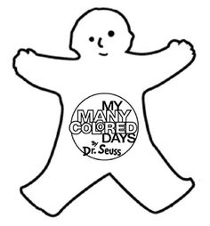 My Many Colored Days - kid color cutouts template