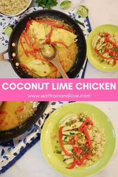 This Thai Coconut Lime Chicken is an amazing dreamy homemade meal that tastes like you just ordered take out! This chicken is sweet and spicy for a healthy, lean, clean and easy to make weeknight meal! Healthy chicken recipes | main dishes | one skillet meal | homemade Thai food | weeknight meal | dinner recipes | clean eating #cleanrecipes #homemaderecipes #healthydinner #cleaneating #easyhomemade #oneskilletmeal #dinnerinspiration
