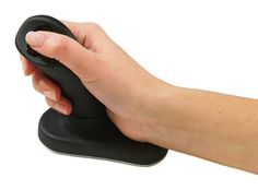 Vertical hand-grip and buttons promote a natural posture for the hand, wrist and lower arm. Available in several versions. Best Ergonomic Mouse, Pc Mouse, Good And Cheap, Computer Accessories, Computer Mouse, Hand Wrist, Carpal Tunnel, Confirmation, Computers