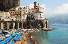 Atrani, on the Amalfi Coast in Italy.