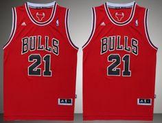 Adidas NBA Chicago Bulls 21 Jimmy Butler New Revolution 30 Swingman Red Jerseys