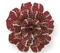 Ruby and Diamond 'Camellia' Brooch, Chanel