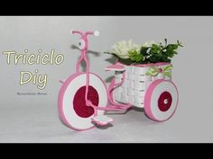 Part one: Quilling Tricycle with Basket/ Quilled Cycle/ DIY Paper Cycle Bird Crafts, Diy And Crafts, Tricycle, Diy Y Manualidades, Origami Videos, Desk Organization Diy, Plastic Bottle Crafts, Summer Crafts For Kids, Quilling Patterns