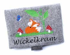 Windeltaschen - Windel - Wickeltasche Fuchs Foxy Filz bestickt - ein Designerstück von Doreens-Bastelstube bei DaWanda
