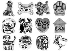Puppy Dog Pandora Style Charms [12] European Antique Silver Bracelet Spacer Beads, Bulk Lot of Twelve Spacers for Bracelets and Necklaces, Fits Most Genuine Brands, an Authentic Timeline Treasures Original, Carefully Inspected, Gift Bagged, Satisfaction Guaranteed Timeline Treasures,http://www.amazon.com/dp/B00FYXBILI/ref=cm_sw_r_pi_dp_MHG6sb1K4SJ2JZMR