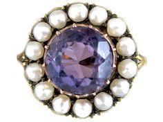 Amethyst Natural Pearl Ring