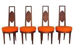 Mid-Century Modern Dining Chairs - Set of 4 on Chairish.com