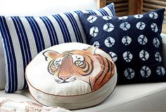 Tie-dyed pillows and tigers oh my!