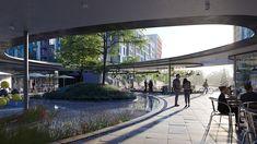 Biophilic Architecture, Architecture Building Design, Concept Architecture, Modern Architecture, Landscape Structure, Landscape Design, Architectural Floor Plans, Sustainable City, Vintage House Plans