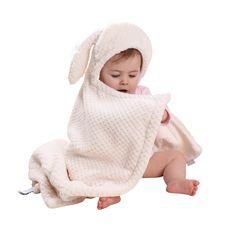 Clair de Lune Honeycomb Hooded Ear Blanket in Cream - £27.99. Kiddicare.com