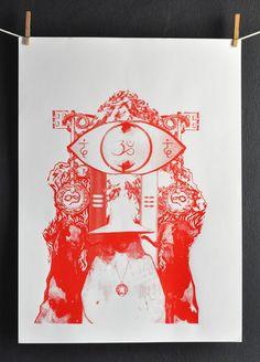 Alejandro Jodorowsky HOLY MOUNTAIN Limited Edition Screen Print Poster
