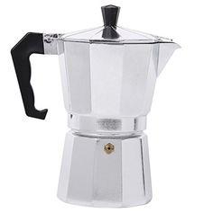 Stovetop Espresso Pot - 1/2/3/6/9/12 Espresso-cup Italian Coffee Maker - Silver Color - /Moka Espresso Coffee Maker (1 Cup/50 ml)