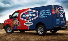 Truck wrap and fleet branding for this heating and cooling contractor located in Minnesota.