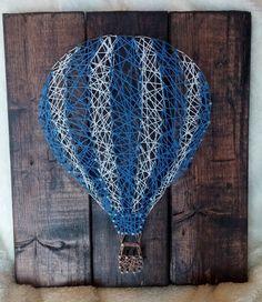 Hot Air Balloon String Art by JDavisCreations on Etsy