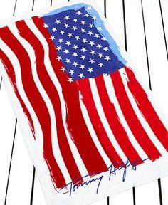 Tommy Hilfiger Flag Beach Towel - Beach Towels - Bed & Bath - Macy's