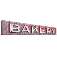 Enormous Vintage Neon Bakery Sign 1