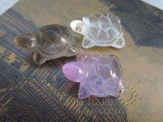 Белый чай кристалл дымчатый кварц кристалл аметиста кулон долголетия немного черепаха черепаха подходит для подвески, тесьма - Taobao