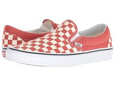 11e5ac85a5 Vans Classic Slip-Ontm ((Checkerboard) Hot Sauce True White) Skate