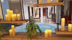 Whirlpool im Saunabereich Wellness, Sauna, Candles, Home, Winter Vacations, Summer Vacations, Hiking, House, Ad Home