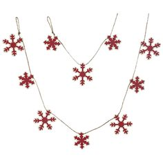 Buy John Lewis Felt Wood Snowflake Garland, Red, L1.8m online at JohnLewis.com - John Lewis
