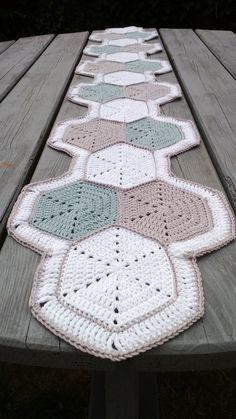 Funky crochet table runner...item for purchase