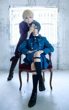 Black Butler- Alois and Ciel Cosplay - COSPLAY IS BAEEE! Tap the pin now to grab yourself some BAE Cosplay leggings and shirts! From super hero fitness leggings, super hero fitness shirts, and so much more that wil make you say YASSS! Ciel Cosplay, Cosplay Anime, Epic Cosplay, Amazing Cosplay, Cosplay Outfits, Cosplay Ideas, Black Butler Alois, Black Butler Anime, Black Butler Kuroshitsuji