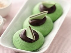 Andes Mint Thumbprint Cookies! YES!