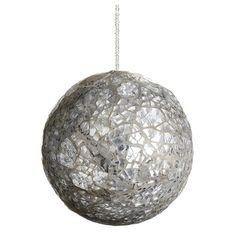 Found it at Wayfair - Mirror Beaded Glass Ball Christmas Ornament