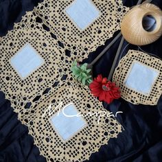 Crochet Borders, Crochet Blanket Patterns, Crochet Lace, Crochet Fashion, Table Runners, Needlework, Quilts, Knitting, Crafts