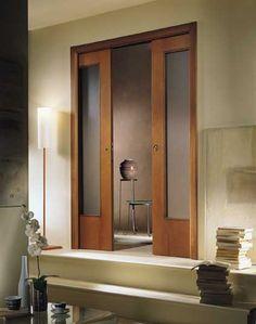 Double Sliding Door Pockets | The Disappearing Door Company