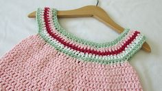 How to crochet a girl's circle neck dress / tunic / top