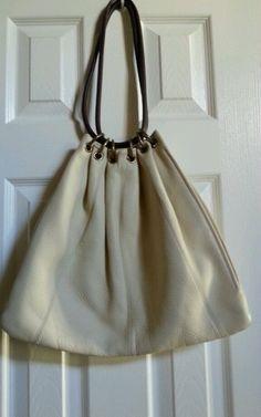 "Authentic $398 Trina Turk ""Terrazzo"" Off White Creme Leather Purse Bag"