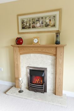"""""""Absolutely delighted with our new fire surround. Excellent value, very impressed with the workmanship and quality.  All Staff really knowledgeable and helpful. Delivered as promised, within two weeks and fits exactly. Would definitely recommend Mick and his team.""""- Mr Leyland. (avaliable for £395.00 on our website www.oakfiresurrounds.co.uk)"""