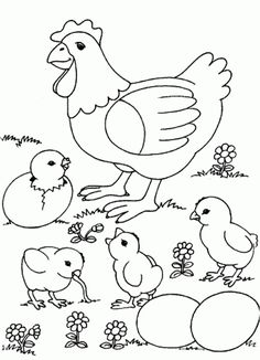 Hen & Chick Printable