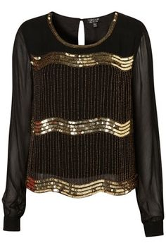Scoop Embellished Blouse - Blouses & Shirts - Tops - Aparrel - Topshop USA - StyleSays