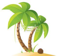 Palmier, Plage, Île, Cocotier, Forêt tropicale humide Illustration vectorielle libre de droits
