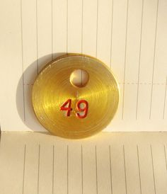 Vintage plate with the number 49 metal tag by vintagelarisa, $5.88