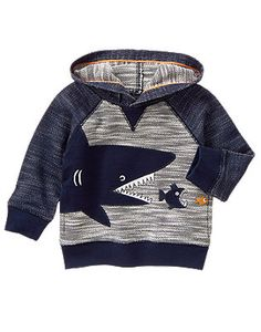 Toddler Boys Heather Grey Shark Pullover by Gymboree