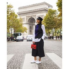 Julia Haghjoo spotted carrying the Jimmy Choo REBEL bag during #PFW {Regram: @juliahaghjoo}