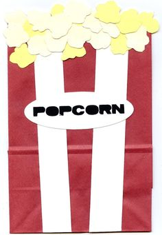 Popcorn Treat Sacks - Carnival Movie Circus Theme Birthday Party Favor Bags by jettabees on Etsy