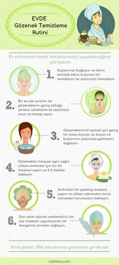 Evde Yüz Bakımı With the effective pore cleansing routine as well as the facial care you do at home spas and clinics, clogged pores will be opened, excess oil will be absorbed from the skin, dead skin Beauty Care, Beauty Hacks, Beauty Tips, Beauty Products, Face Beauty, Beauty Ideas, Facial Products, Skin Products, Beauty Makeup