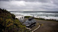 5 RV Beach Camping Destinations: Fall Out of Your RV Onto the Sand Oregon beach #MissFitGear