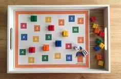 Juego de suma con ladrillos LEGO