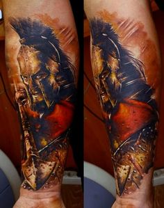 300 Spartan Tattoo Designs and Ideas on Forearm