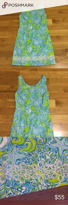 Lined ocean print dress with embroidered trim Just gorgeous and in amazing condition. Bundle to save even more. key west Dresses Midi