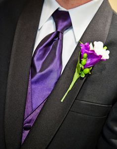 WeddingChannel Galleries: Purple Groomsmen Boutonniere
