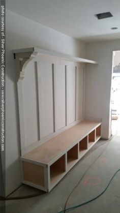 Ideas Shoe Storage Ideas Entryway Mudroom Cubbies For 2019 Mud Room Garage, Mudroom Laundry Room, Laundry Room Design, Mud Room Lockers, Mudroom Cubbies, Garage Lockers, Garage Bench, Built Ins, Home Projects