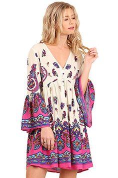 Adorable! BoHo Mega Bell Sleeve Border Print Swing Dress ... https://www.amazon.com/dp/B01NC0PCS0/ref=cm_sw_r_pi_dp_x_QEUTybY4XK858