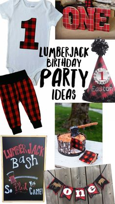 The cutest lumberjack birthday theme ideas! Lumberjack theme, lumberjack first birthday , lumberjack party , lumberjack birthday , lumberjack clothes , lumberjack baby , liv and co